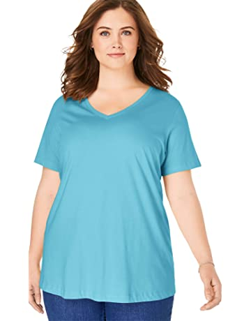 15846343da184 Women's Plus Tops Tees | Amazon.com