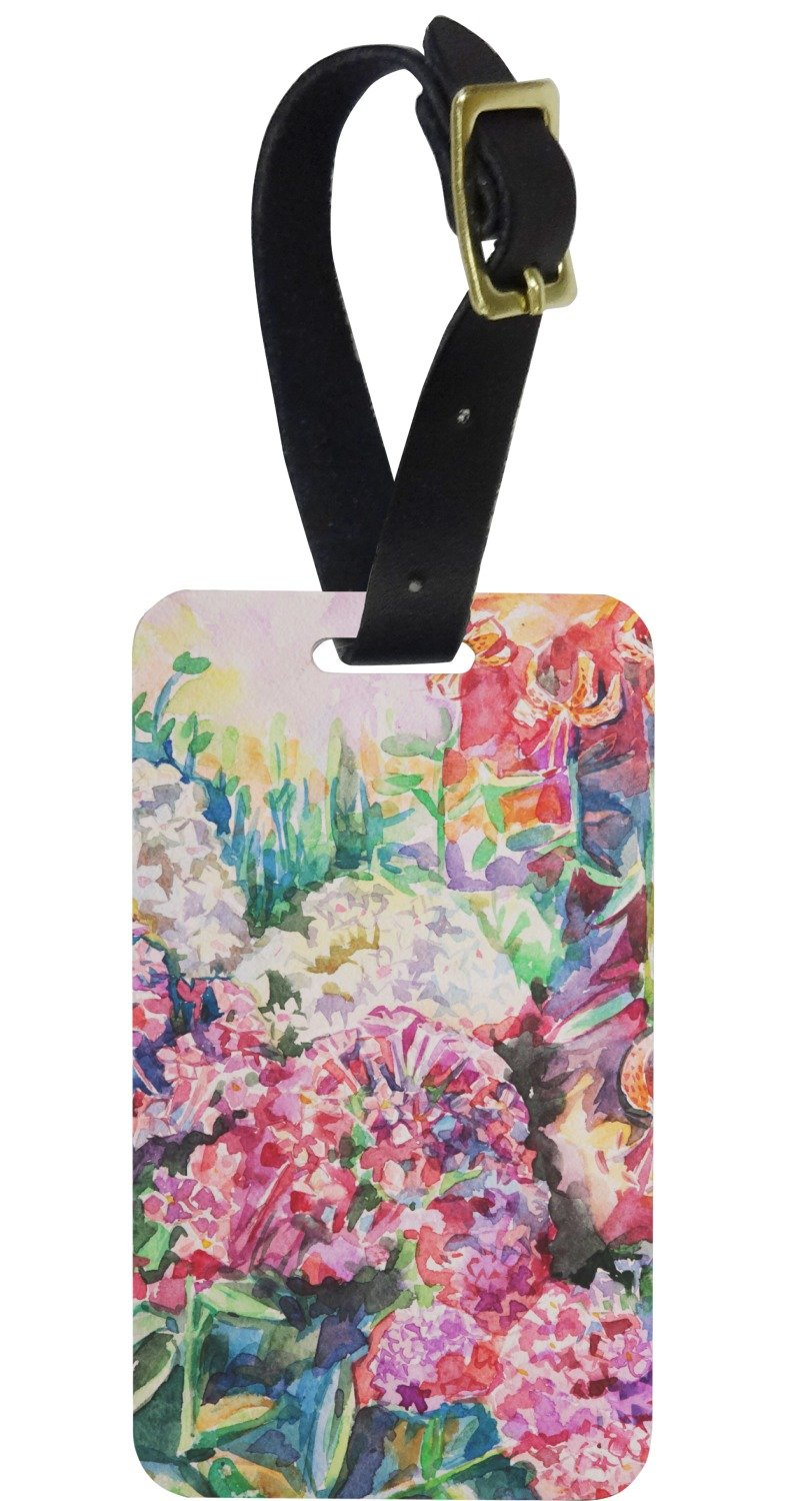 Watercolor Floral Aluminum Luggage Tag