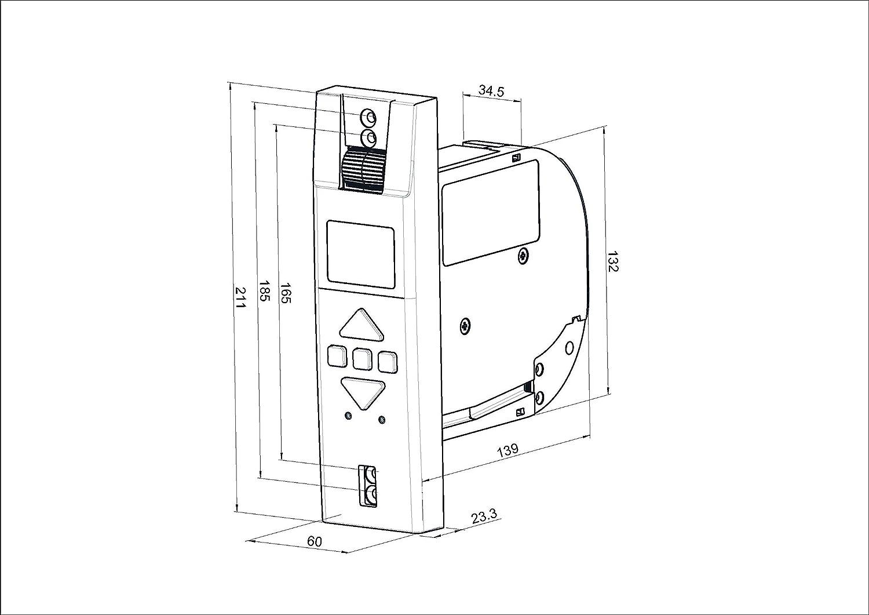 Display Elektrischer Gurtwickler MATOFIX PRO f/ür 17-23mm Gurtband feste Fahrtzeiten einstellbar Zugkraft bis 45kg inkl Unterputz Netzstecker