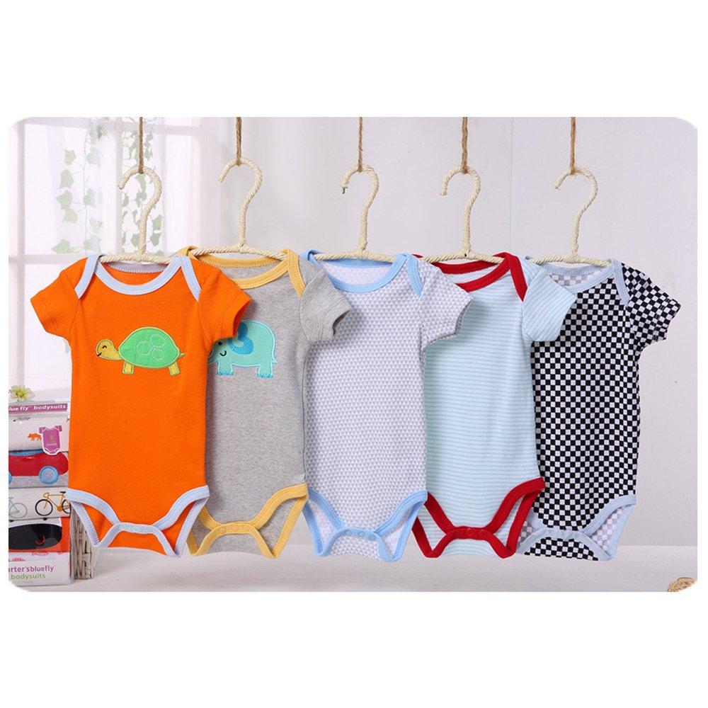 5er Set Baby Strampler Jungen Strampelanzug 100/% Baumwolle Mädchen Babystrampler