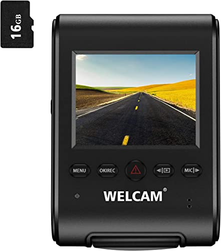 WELCAM Car Dash Cam 2.4 LCD FHD 1080p 170 Wide Angle Dashboard Camera Recorder with G-Sensor, WDR, Loop Recording