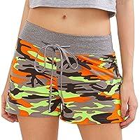 Mujer Cintura Media Shorts de Camuflaje - Corriendo