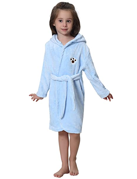 e6bdcd609 iClosam Boys & Girls Bathrobes Sleepwear Comfortable Loungewear 1-2 Years  Blue
