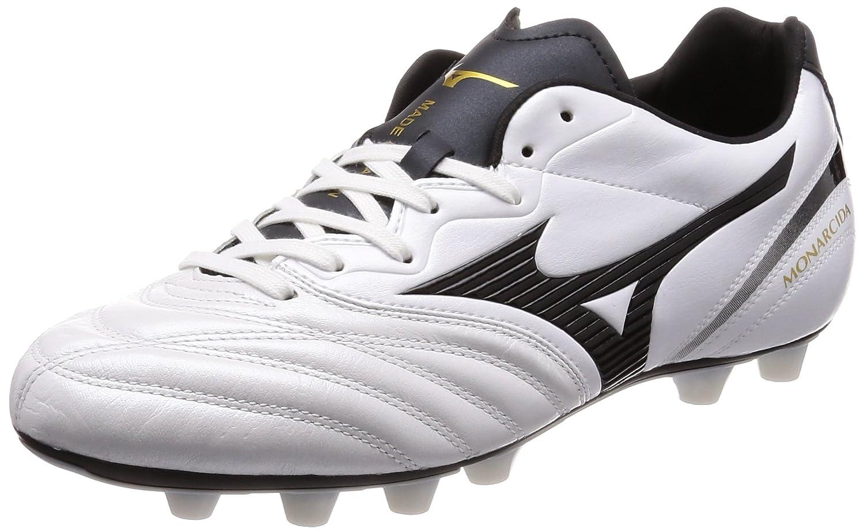 [ミズノ] サッカースパイク モナルシーダ2 JAPAN B075FX9BTW 25.0 cm 2E|ホワイト/ブラック ホワイト/ブラック 25.0 cm 2E