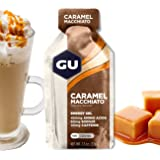 GU Energy Original Sports Nutrition Energy Gel, Caramel Macchiato, 8-Count