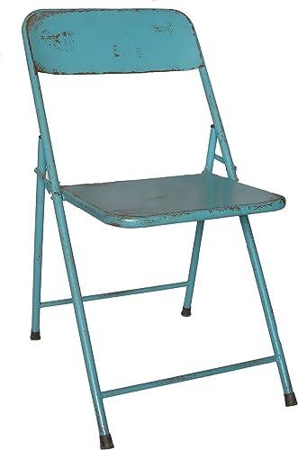 NACH th-F4920AB Rustic Bistro Chair, Blue, Set of 2
