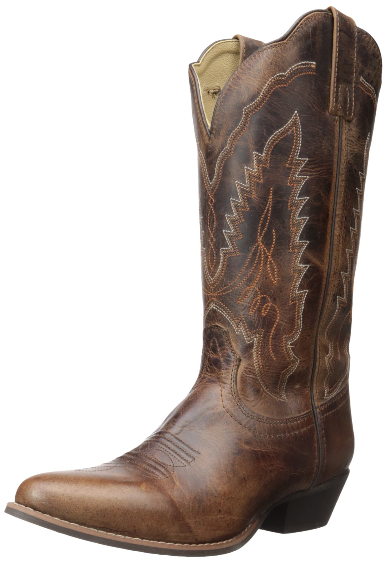 Smoky Mountain Women's Amelia Cowgirl Boot Round Toe Brown 7 M US