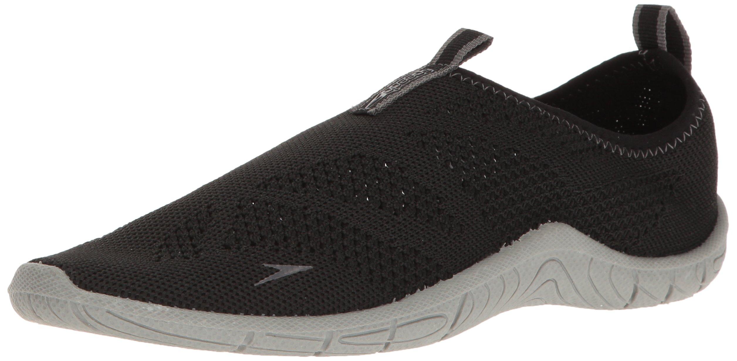 Speedo Women's Surf Knit Athletic Water Shoe, Black/Neutral Grey, 7 C/D US