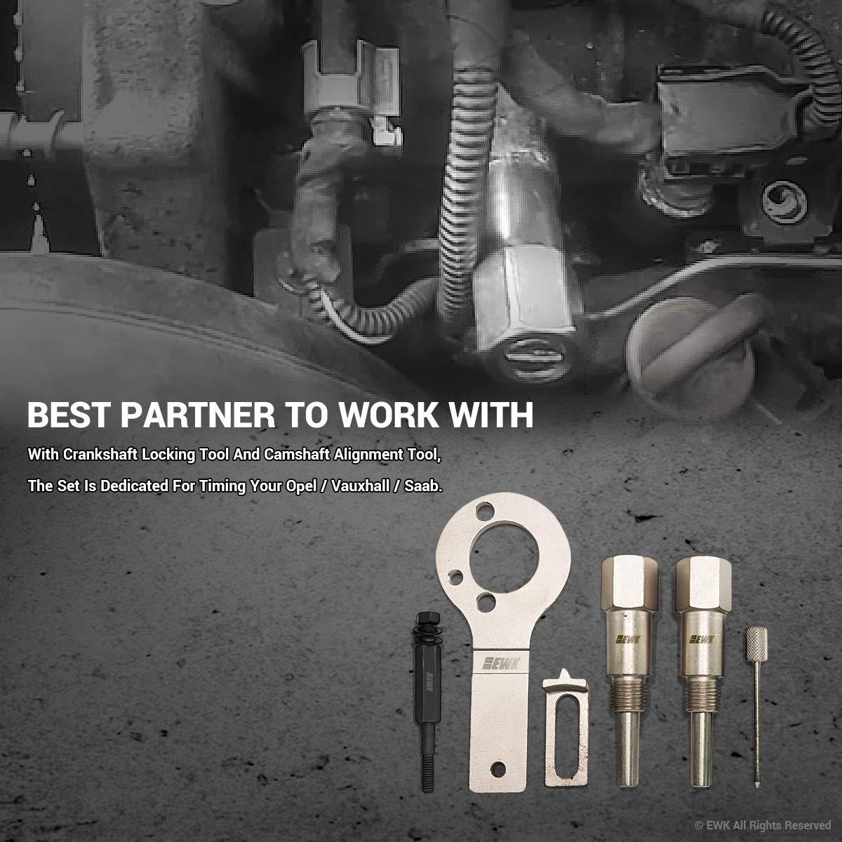 Ewk Crankshaft Locking Alignment Timing Belt Tool For Vauxhall Opel Saab 19 Cdti Tdi