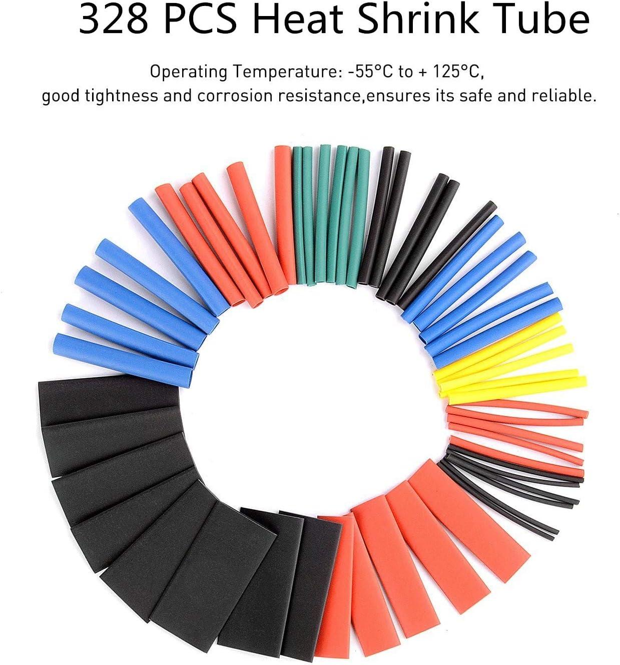 5 puntas de soldador 30 en 1 destornilladores Pancellent 60 W herramienta de soldadura de temperatura ajustable Soldador con mult/ímetro digital 328 piezas de tubos termorretr/áctiles