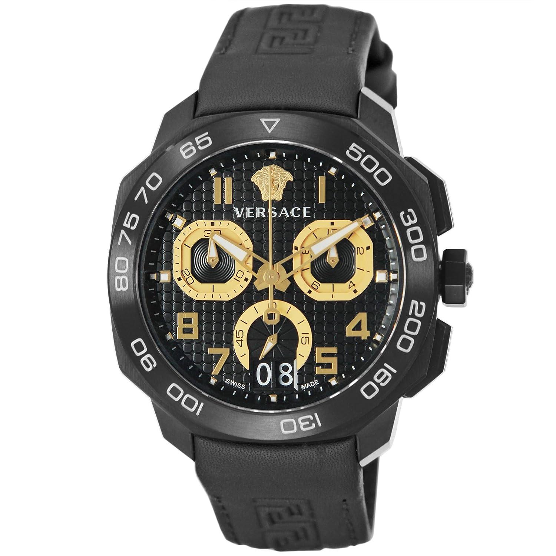 [ヴェルサーチ]VERSACE 腕時計 デュイロス ブラック文字盤 VQC020015 メンズ 【並行輸入品】 B01M5FMNBU