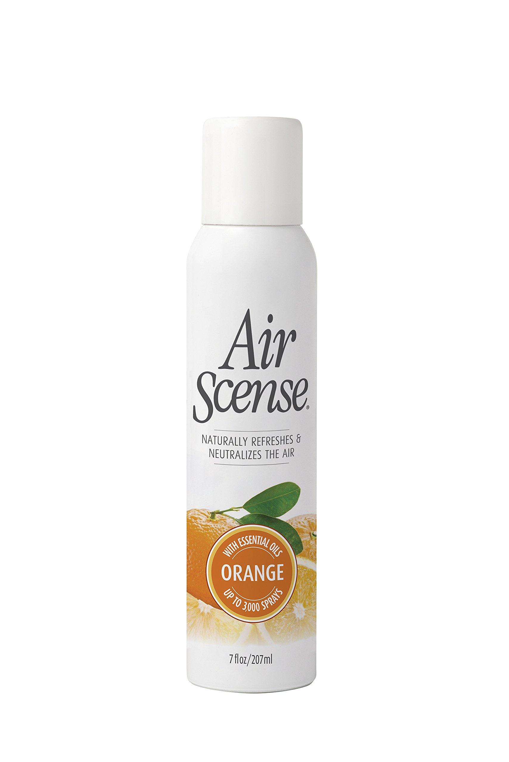 Air Scense Air Freshener, Orange - 7 Oz, 4 pack