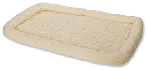"Little Giant Miller fabricación Mascotas Lodge Forro Polar Perro Cama Suave Lavable Crema XL 41 """