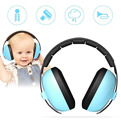 c1707605f80 Vkaiy Baby Ear Protection Noise Cancelling HeadPhones for Babies for 3  Months to 2 Years (Blue) (blue) - - Amazon.com