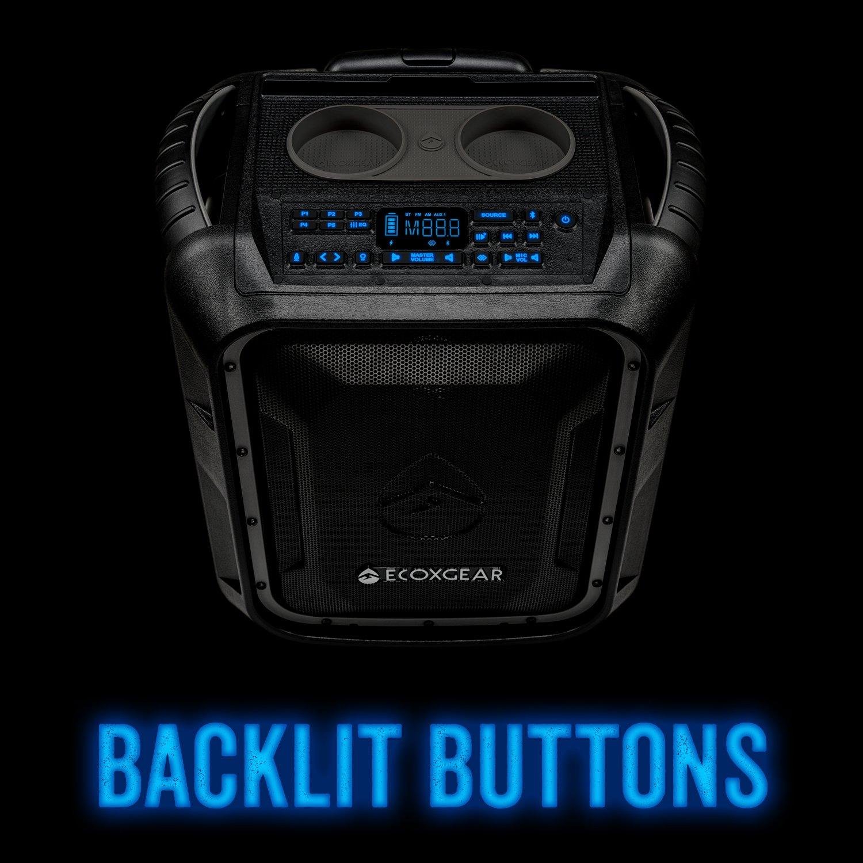 ECOXGEAR GDI-EXBLD810 Waterproof Portable Bluetooth/AM/FM Wireless 100W Speaker & PA system by ECOXGEAR (Image #9)