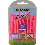 Champ Zarma Golf Fly Tees, Neon Pink, 3.25""