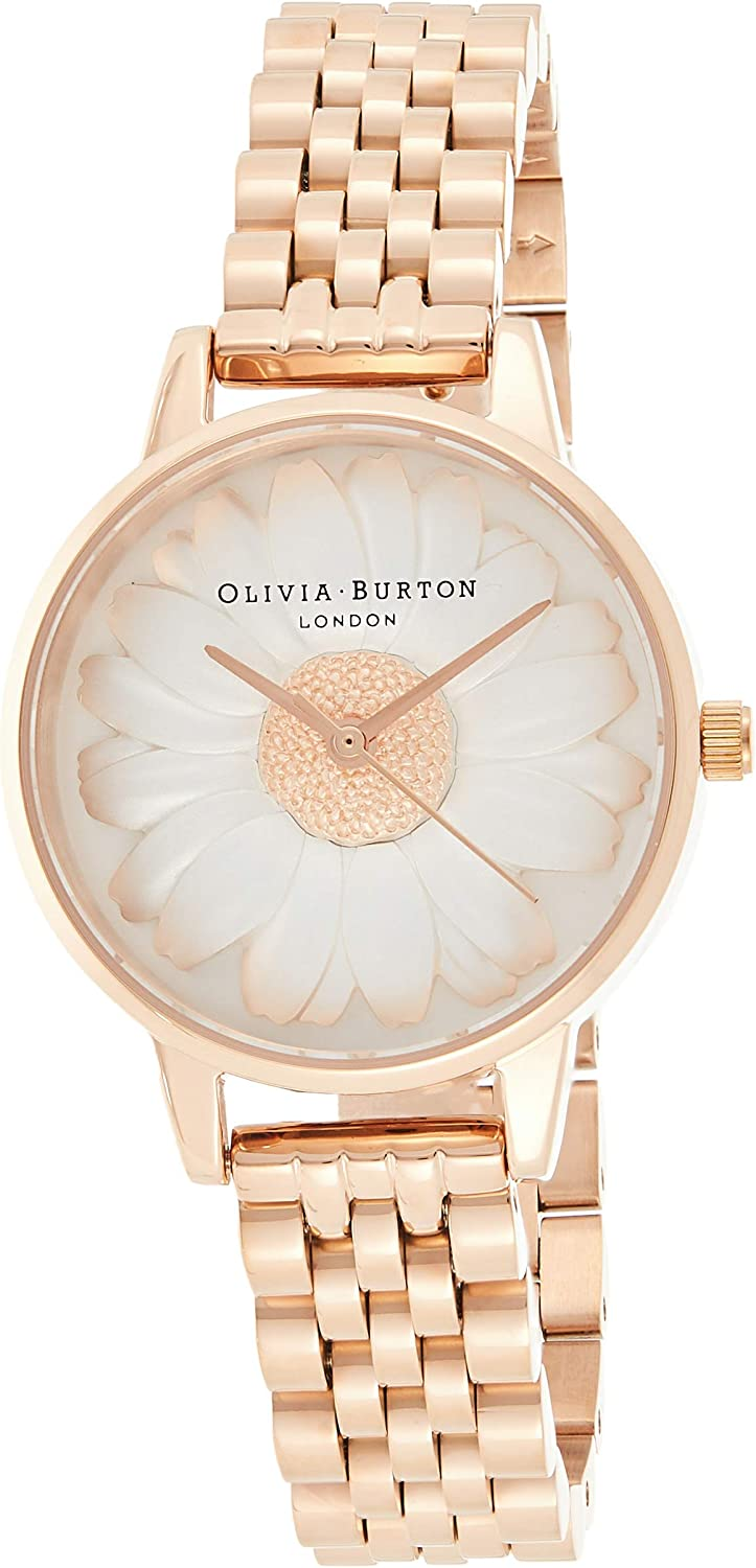 Olivia Burton 3D Daisy White Dial Ladies Watch OB16FS102