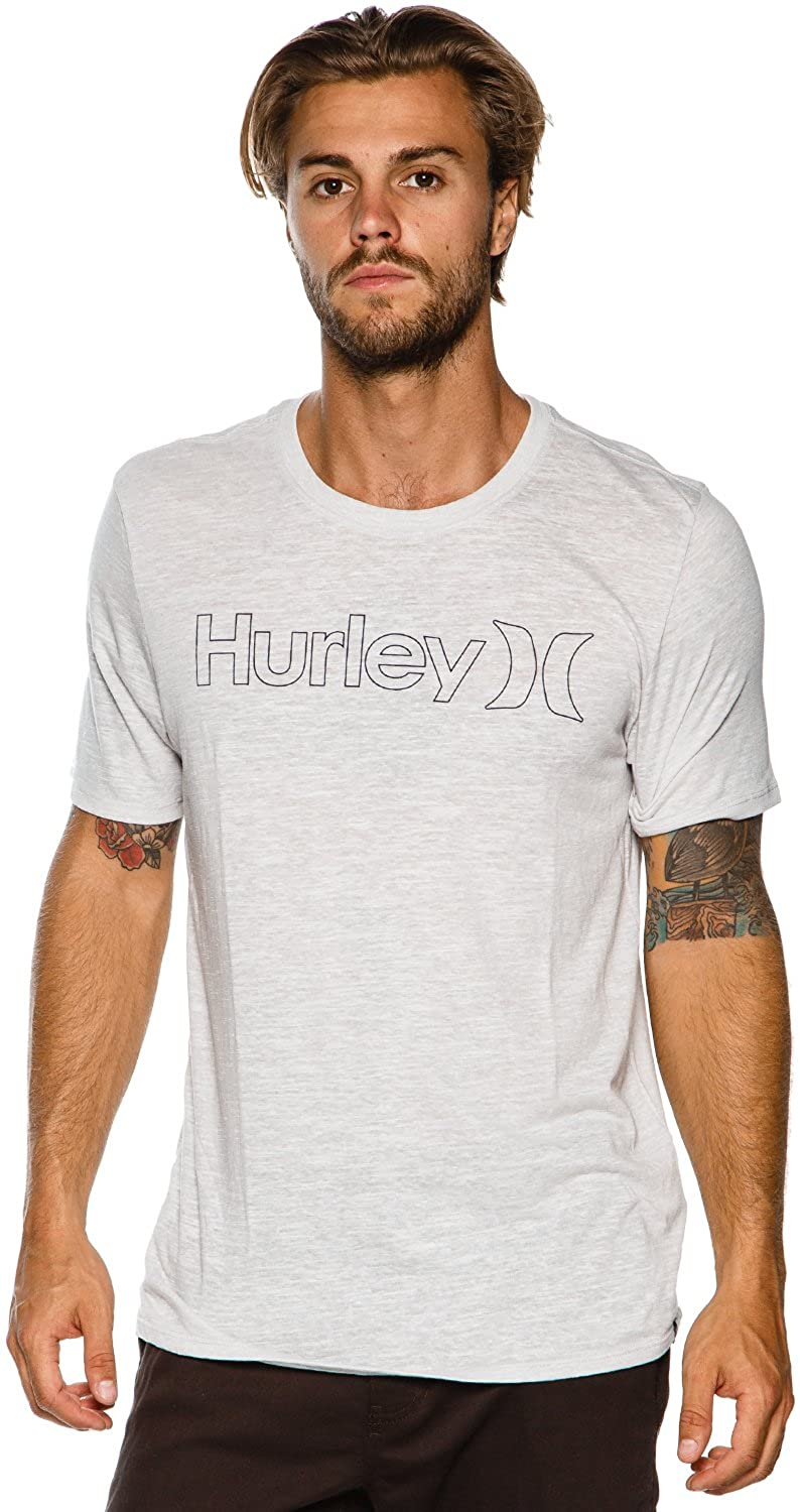 Hurley Mens One /& Only Outline Tri-Blend Tee