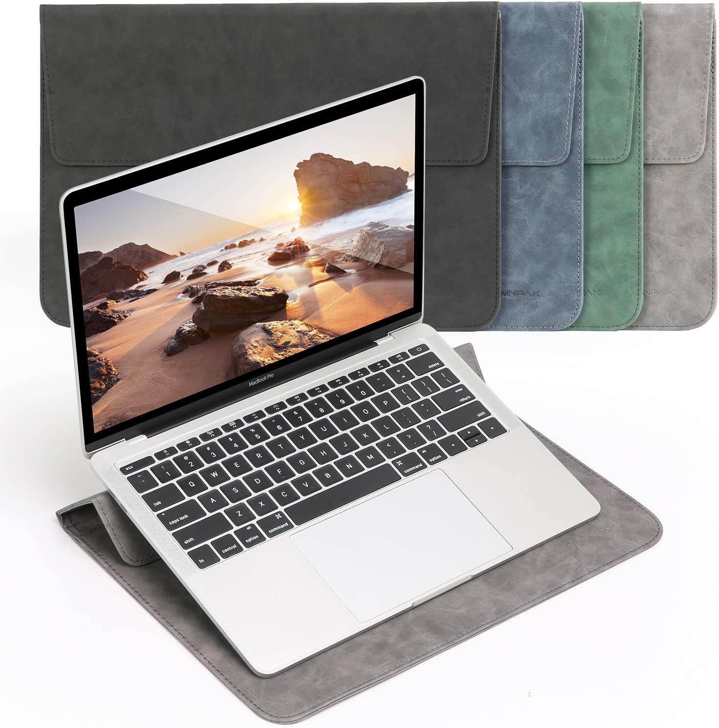 15-16 Inch Laptop Sleeve with Stand Case Compatible with 2019 MacBook Pro 16 A2141/ Surface Laptop 3 15 Inch/Dell XPS 15/2012-2015 Old MacBook Pro Retina 15 A1398