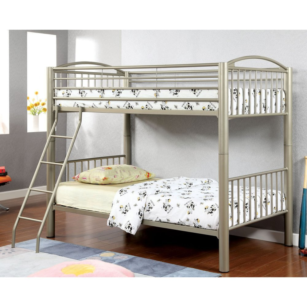 Amazon HOMES Inside Out IoHOMES Metallic Brillia Bunk Bed Twin Gold Kitchen Dining