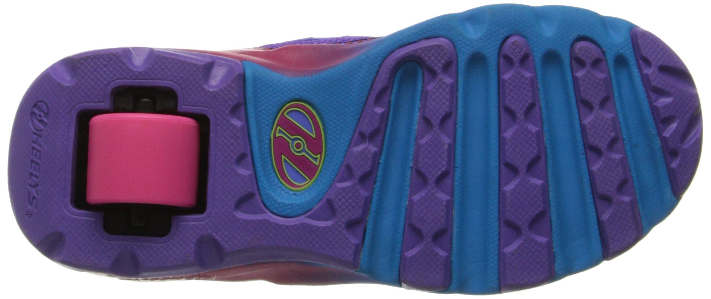 Heelys Race Skate Shoe (Little Kid/Big Kid),Purple/Rainbow,2 M US Little Kid by Heelys (Image #3)