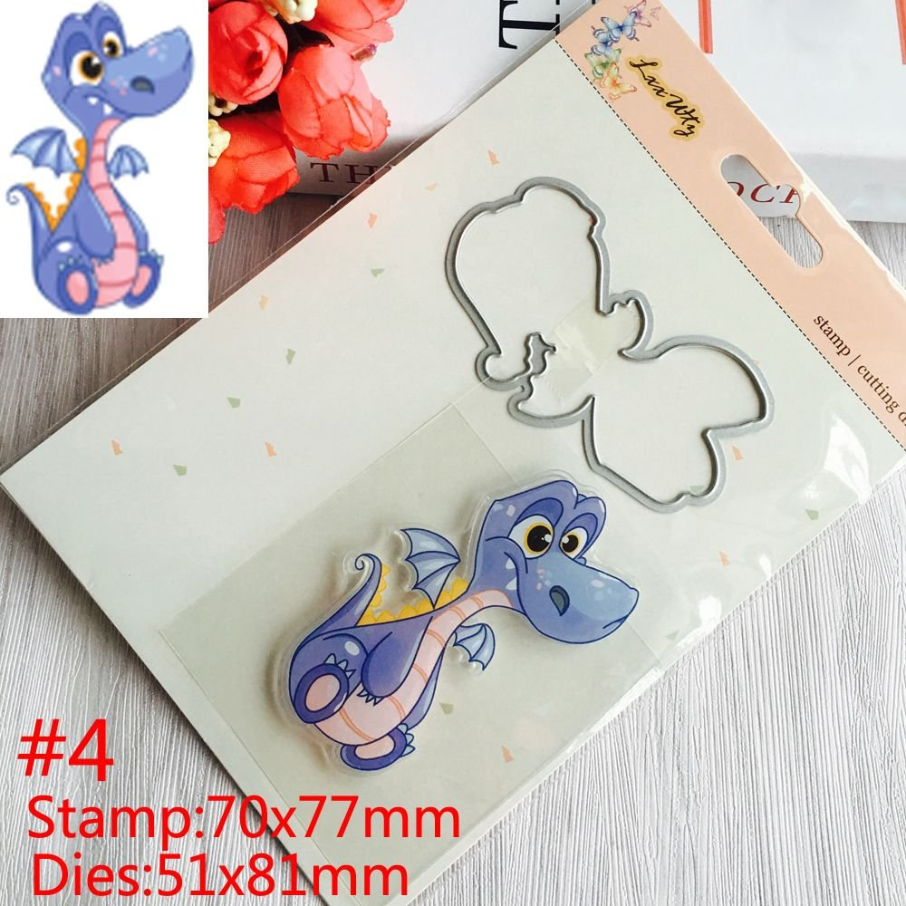 Cute Animals Transparent Stamps Metal Cutting Dies Stencils Embossing Decor A+
