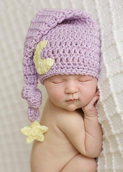Amazoncom Tueenhuge Newborn Baby Crochet Photo Prop Toddler Moon