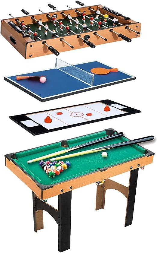 Table Multi jeux GIOVE 10 en 1 Billard//Babyfoot//Hockey//Tennis de Table