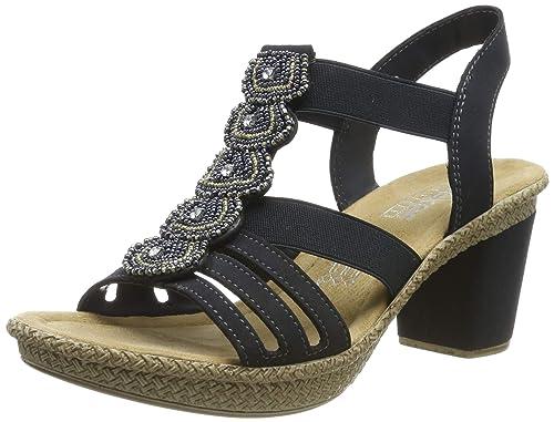 gehobene Qualität sehr günstig neue Stile Rieker Damen 665g8-14 Geschlossene Sandalen