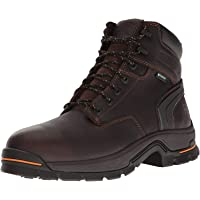 "Timberland PRO Men's Stockdale 6"" Alloy Toe Waterproof Industrial and Construction Shoe, Brown Full Grain Leather, 9 W US"