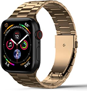 LELONG Compatible with Apple Watch Bands 44mm 42mm 40mm 38mm, Upgraded Version Stainless Steel Replacement for iWatch Band SE & Series 6/5/4/3/2/1