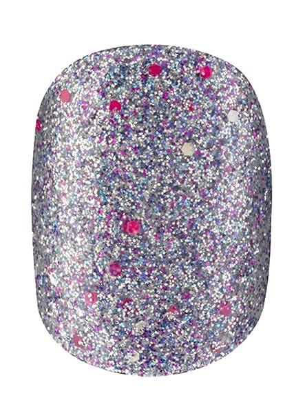 Elegant Touch – Uñas postizas con brillantina y etiquetas adhesivas Razzle Dazzle