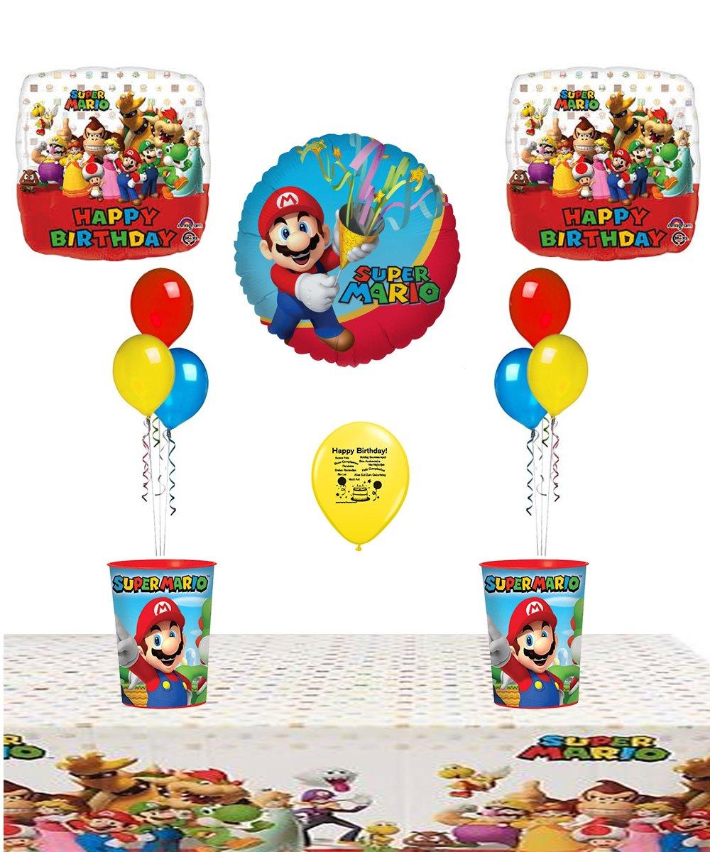 Mario Bros. Suministros para fiesta de cumpleaños y centro ...