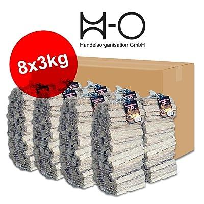 24kg anzündholz séché 22kg anmach bois Cheminée bois tendre Pin épicéa séchée en 8handlichen Sachet de 3kg chacun–Livraison gratuite