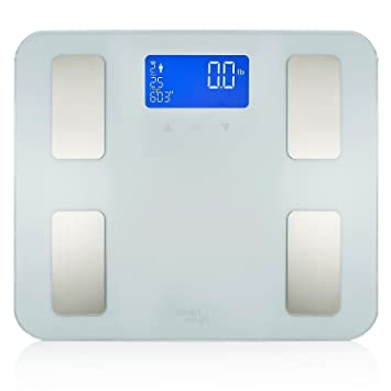 Aicok Body Fat Scale, Digital Scale, Bathroom Scale with Tempered Glass, Smart Weight Scale Measures Weight, Body Fat, Visceral Fat, Calorie, Hydration, BMI and Muscle