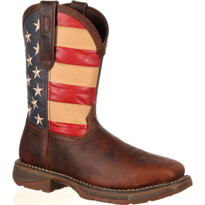 5d3bdb56620 Amazon.com  Durango Men s American Flag Square Steel Toe Brown Western Boots  DB020 7 M  Sports   Outdoors