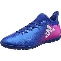 adidas Performance Boys Kids X 16.3 TF J Football Astro Turf Shoes Boots - Blue