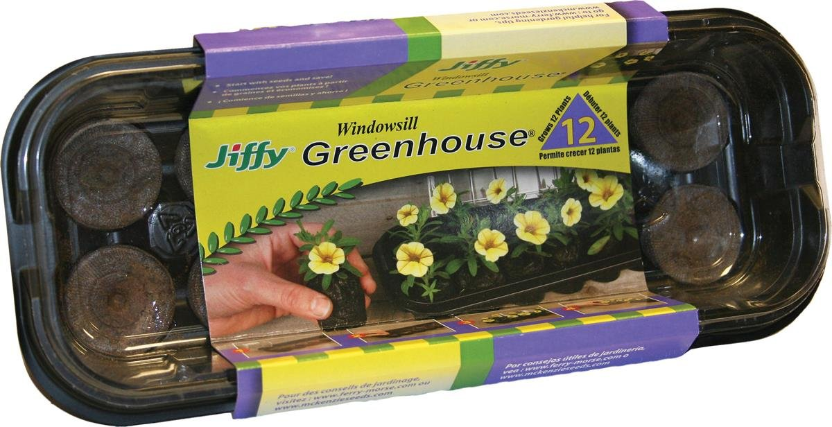 Plantation Jiffy 5710 12-Pellet Indoor Plant Start Greenhouse J312