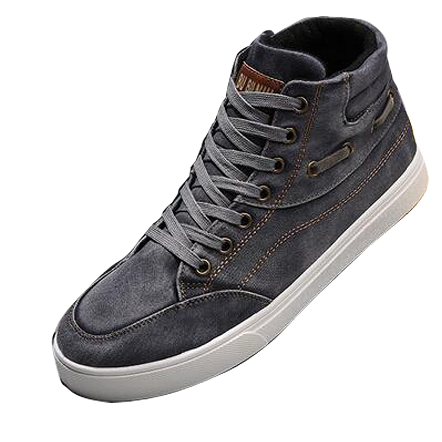 Gaorui Baskets Montantes Hommes Baskets a Lacets casual sneakers