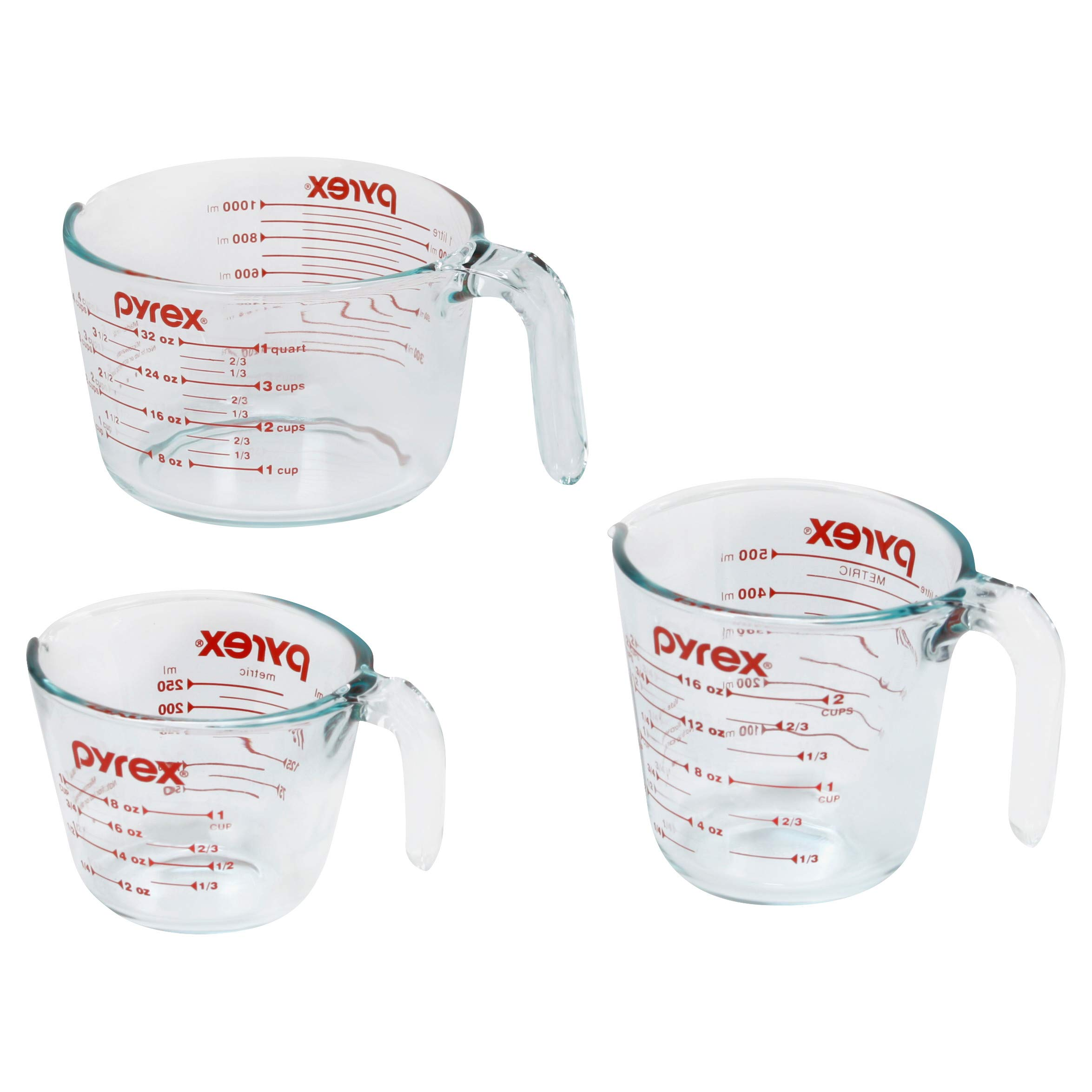 Pyrex Measuring Cups, 3-Piece, Clear by Pyrex