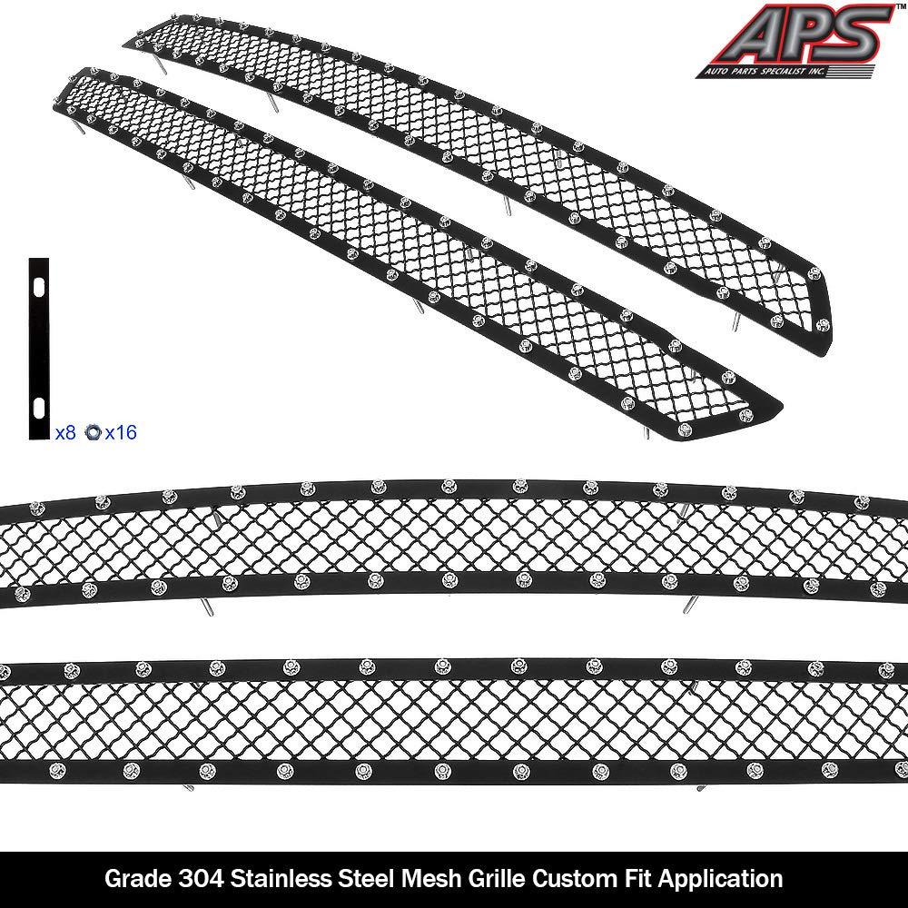 APS - Rejilla de Malla Negra para Ford F-150 XL y XLT y Lariat ...