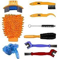 9PCS Kit de Cepillo de Limpieza de Bicicletas, Herramientas de Limpieza para Bicicleta de Montaña, Urbanas, de Ruta, BMX…