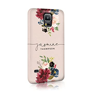 new concept b0f0f 7796a Personalised Samsung Galaxy S6 Edge Plus Tirita Hard Case Cover PRINTED  GLITTER, NOT REAL GLITTER Floral Flowers Gold Monogram Spring Custom  Initials ...