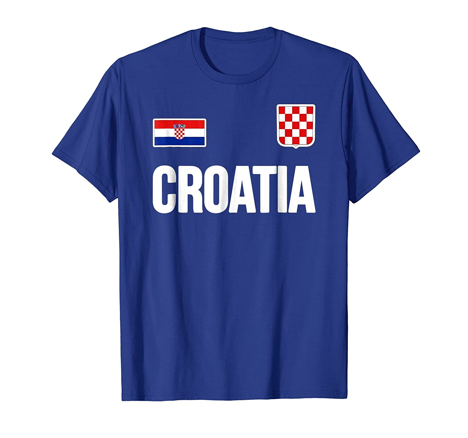 Croatia T-shirt Croatian Flag Hrvatska Fan Soccer Jersey-mt