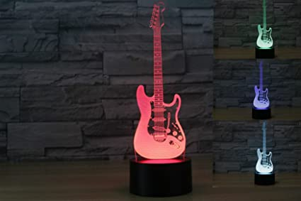 Amazon.com: superniudb 3d Colorful Guitarra Eléctrica ...
