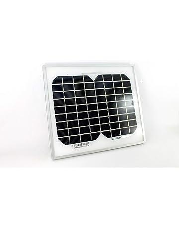 PK Green 5W 12V Panel Solar Portátil Monocristalino para Camping, Caravanas, Coche, Jardín