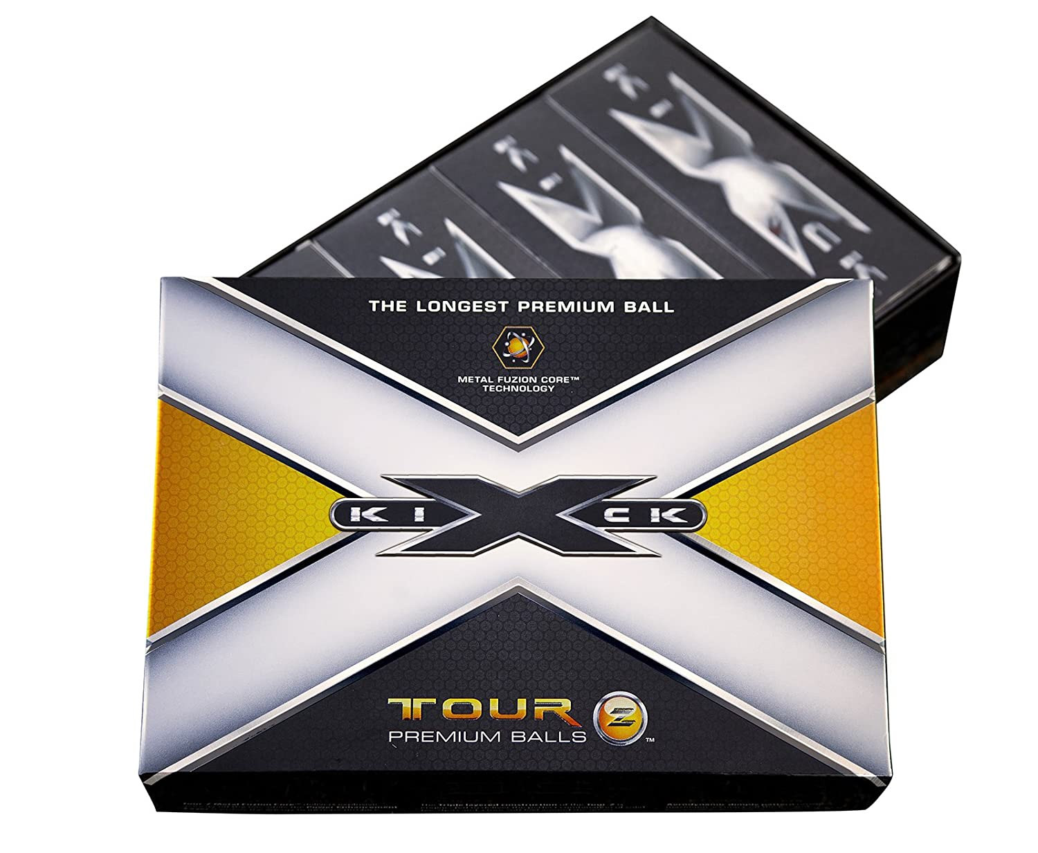 Kick-X Tour-Z Premium Golf Balls 12 Pack w Alignment Putting Lines