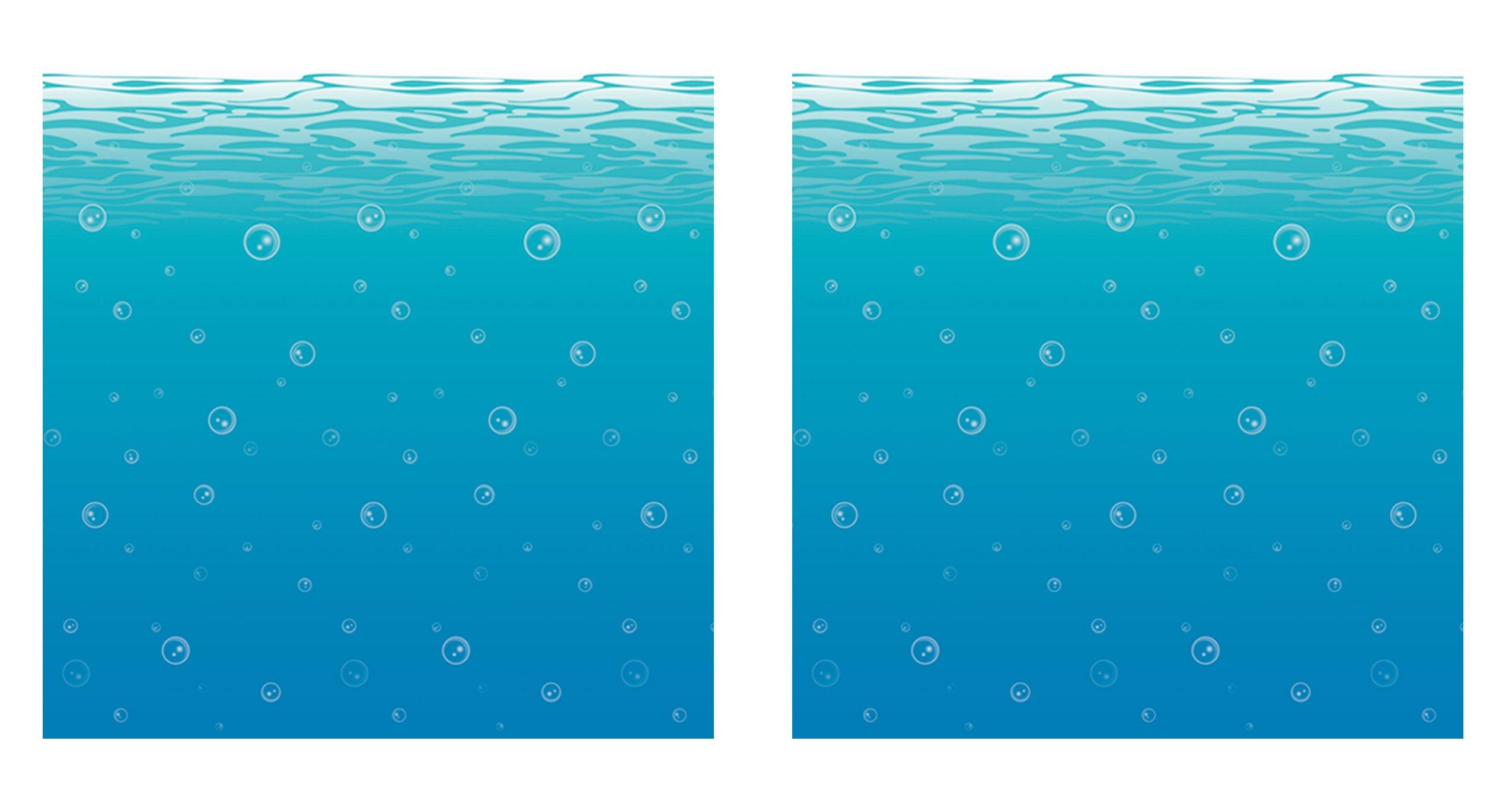 Beistle S52071AZ2 undersea backdrop, Blue/White