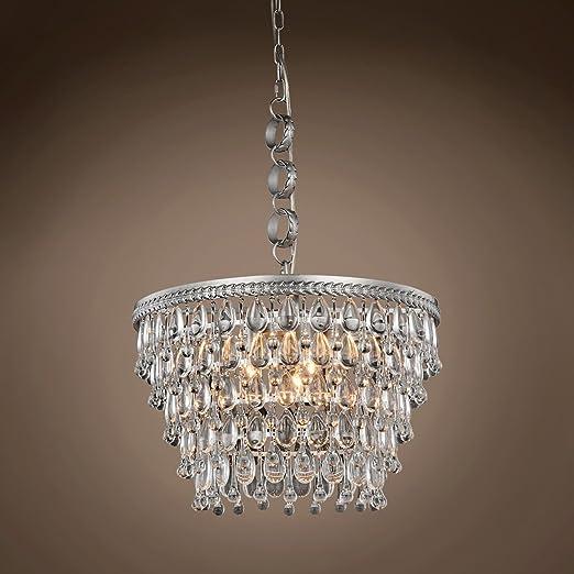 Amazon.com: Lámpara de techo colgante de cristal con forma ...