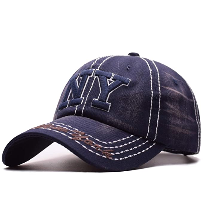 2019 New York Washed Old NY Baseball Cap Summer Hat Men Gorra Summer Cap for Women Bone Trucker Hats at Amazon Mens Clothing store:
